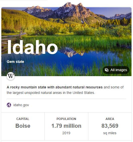 Idaho Population