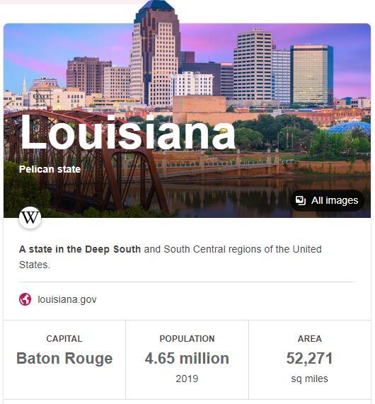 Louisiana Population