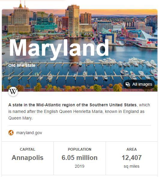 Maryland Population