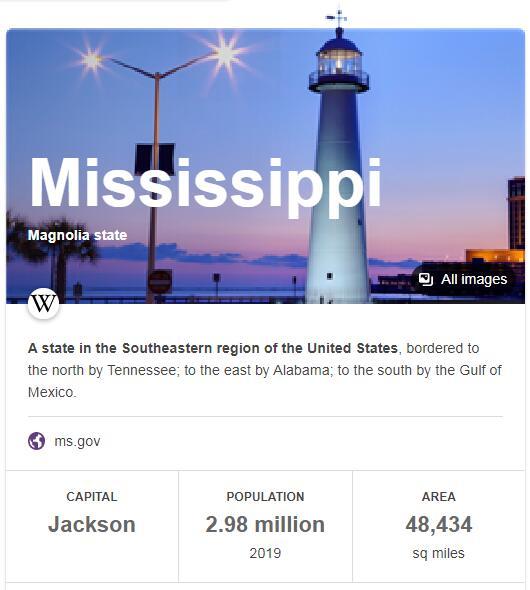 Mississippi Population