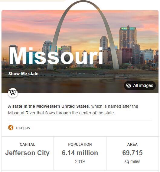 Missouri Population