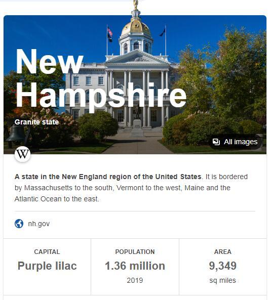 New Hampshire Population