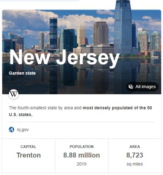 New Jersey Population