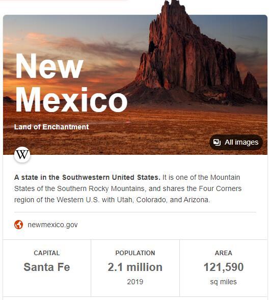New Mexico Population
