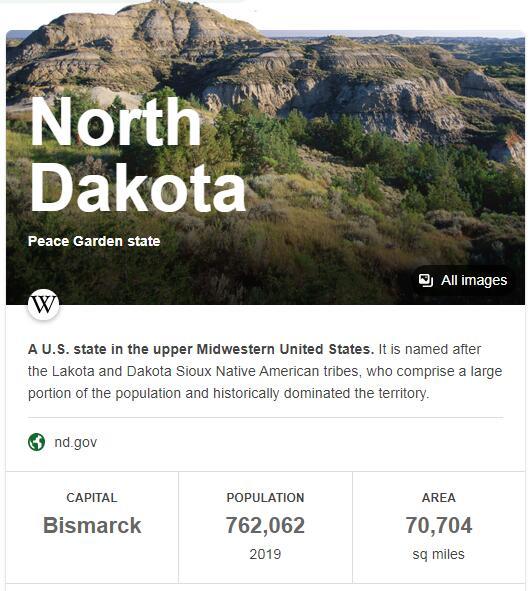 North Dakota Population