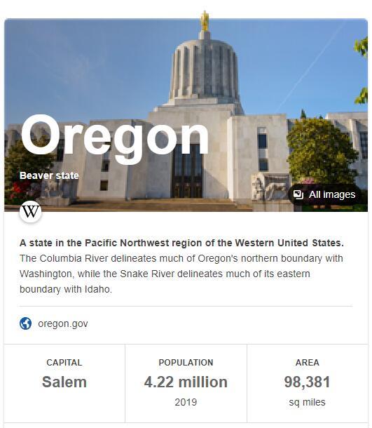 Oregon Population