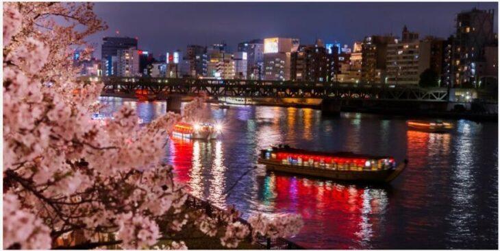 Sail along the Sumida River