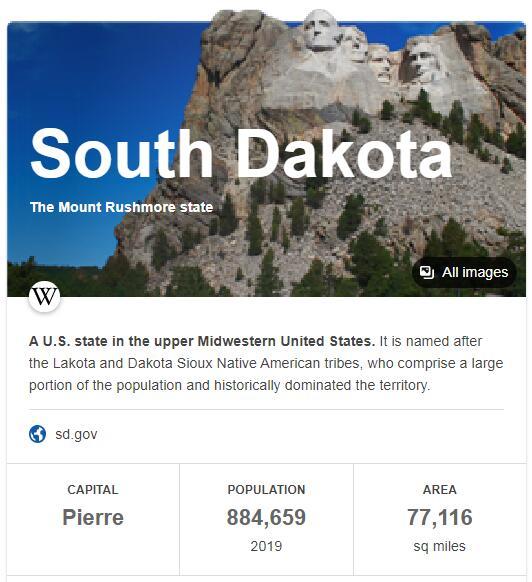South Dakota Population