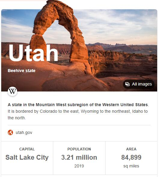 Utah Population