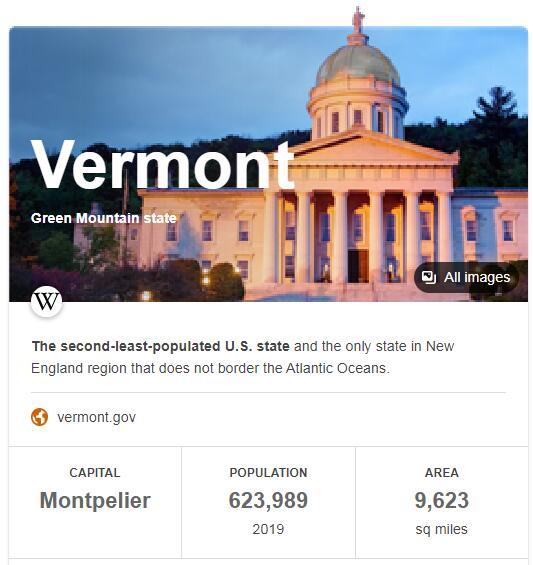 Vermont Population